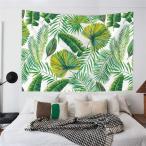北欧風!緑色植物 葉 ラブ ウォールフラッグ/ガーランド/ビーチマット/タペストリー/テーブルクロス/レジャーシート インテリア ファブリックポスター