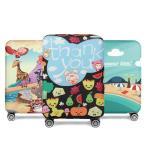 旅行用品 スーツケースカバー 果物/動物園/砂浜のデザイン S M L XL ターンテーブル 守る/キャリーケースカバー 撥水/伸縮/卒業旅行 旅行グッズ