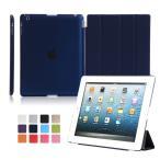 ショッピングiPad2 上質iPad2/3/4用手帳型レザーケース 保護カバー スタンドカバー 自動スリープ 横開き 4つ折り軽量 薄型 10色可選