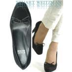 STUART WEITZMAN パンプス EUサイズ-34.5/21.5cm〜22.0cm ブラック/黒 スエード リボン バレエ ハイ ヒール パンプス レディース 靴