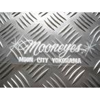 MOON CITY YOKOHAMA ステッカー ホワイト ムーンアイズ MOONEYES 横浜 ヨコハマ ピンストライプ WHITE