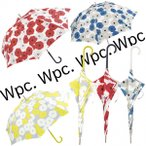 9-008 WPC ピオニ 長傘 雨傘 晴雨兼用 UVカット プレゼント 花 グラスファイバー 軽量 花柄 フラワー 傘