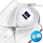 日清紡アポロコット | ワイシャツ・半袖・白ドビーストライプ・レギュラーカラー・綿100%・形態安定