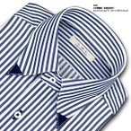 SHIRT MAKER CHOYA | ワイシャツ・長袖・ロンドンストライプ・スナップダウン・形態安定加工