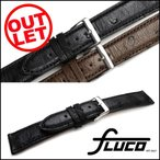 腕時計 ベルト 時計 バンド フルーコ・FLUCO Echt Strauss シュトラウス レザー 革 18mm20mm 腕時計(メ)
