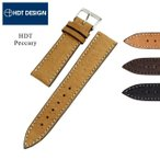 バネ棒付き 時計 ベルト バンド HDT Peccary leather ペッカリー 革ベルト 18mm 20mm 22mm
