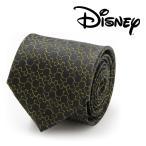ネクタイ シルク Mickey's 90th Anniversary Compact Silhouette Men's Tie ディズニー ミッキー マウス アニバーサリー シルエット DN-M90-BK-TR