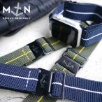 Apple Watch 時計 ベルト MN STRAP MARINE NATIONAL マリーンナショナル MNストラップ for Apple Watch 尾錠ブラック加工(DLC) Series2/3/4