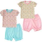 ベビー服 赤ちゃん 服 ベビー トップス ボトムス 女の子 80 90 ハートヒョウ柄半袖Tシャツ&ハーフパンツセット