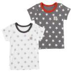 星柄半袖インナーシャツ 赤ちゃん 服 ベビー服 子供 下着 インナー 星柄 保育園 男の子 男児 肌着 チャックルベビー