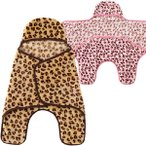 ベビー服 赤ちゃん 服 ベビー おくるみ 男の子 女の子 抱っこしやすい ソフトボア ヒョウ柄おくるみアフガン