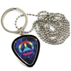 PICK WORLD Pick-Lace Frame PWPH14 Peace Mark Blue ピックホルダー・ネックレス