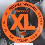 DADDARIO 0019954151249  5個 D'Addario ダダリオ エレキベース弦 Long EXL160