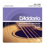 D'Addario EJ26/Phosphor Bronze/Custom Light アコースティックギター弦