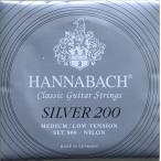 ショッピングクラシック HANNABACH Silver 200 MEDIUM/LOW TENSION クラシックギター弦