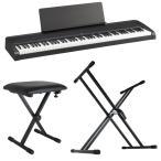 KORG B2 BK 電子ピアノ Dicon Audio X型キーボードスタンド&キーボードベンチ 3点セット
