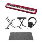 CASIO Privia PX-S1000 RED 電子ピアノ キーボードスタンド キーボードベンチ ヘッドホン ピアノマット(グレイ)付きセット