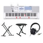 CASIO LK-515 61鍵盤 光ナビゲーション キーボード キーボードスタンド キーボードベンチ ヘッドホン 4点セット [鍵盤 Cset]