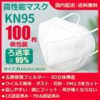 KN95マスク N95マスク 高性能マスク 濾過率95%以上 100枚 個包装 10%OFF 送料無料 5層フェルター 3D立体マスク 顔フィット 通気性抜群
