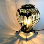 ローズデザイン スタンドランプ LED対応 ガラス ランプ アンティーク アイアン スタンド インテリア スタンドライト スタンドランプ 照明 間接照明 お洒落