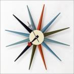ジョージ・ネルソン サンバーストクロック マルチカラー 掛け時計 ミッドセンチュリー 時計 お洒落 木製 アンティーク ヴィンテージ ジョージネルソン 北欧