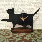 ネコクロック C   おしゃれ アンティーク アイアン 木製 時計 置時計 ネコ 猫 ねこ カントリー レトロ ビンテージ かわいい