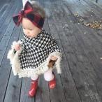 キッズアウター冬ベビー・キッズ・ジュニア・女の子・子供ポンチョマントポンチョ着ケープ子供コートキッズマント着る毛布防寒フード付きボア保温
