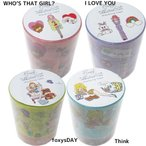 foxy ステーショナリー グッズ デコレーションテープ マスキングテープ2個セット I LOVE YOU/WHO THAT GIRL/Think/foxys DAIRY アートプリントジャパン