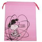 スヌーピー 巾着袋 ビニール ギフトバッグ M APJ ピンク グッズ 32×40.5×8cm ラッピング用品