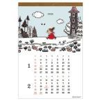 ムーミン 北欧 カレンダー 2020年 2020 Calendar 壁掛け ウッドパーツ APJ 172 257mm