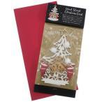 クリスマスカード WoodCardseries ウッドスタンドカード ホワイトツリー APJ