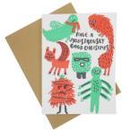 クリスマスカード 箔押 カード エッグプレス モンスタークリスマス Xmas