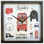 掛け時計 アート ウォール クロック ロンドン Good idea Clock London 美工社 32×32cm