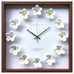 プルメリアクロック インテリア 掛け時計 Plumeria clock ホワイト 美工社