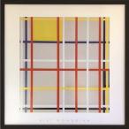 インテリア パネル ピエト・モンドリアン Piet Mondrian New York City 3 52×52×3.5cm 額装品 ギフト 装飾 インテリア