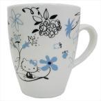 ハローキティ マグカップ 磁器製MUG アジアンスタイル ブルー サンリオ 金正陶器 ギフト雑貨