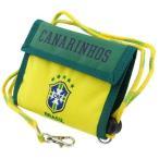 2つ折り財布 サッカーブラジル代表 CBF 横型ナイロンウォレット カナリア サッカー グッズ