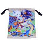 巾着袋 モンスターハンター ストーリーズ きんちゃく ポーチ S RIDE ON モンハン サンアート 18×20.5cm