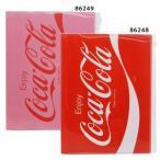 コカコーラ ジップファスナー付 6ポケット A4 クリアファイル グッズ ファイル キャラクター カミオジャパン 新学期 準備