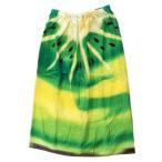 80cm丈 巻き 巻きタオル フルーツドレス ラップタオル キウイ 約80×120cm 海プール 着替えタオル