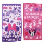 ミニーマウス 幼稚園 ミニタオル ポケット タオル 2枚組 サニーデイズ ディズニー 丸眞 10×20cm×2枚