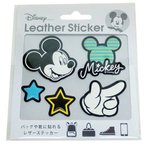 ミニ シール ミッキーマウス PU レザー ステッカー ディズニー Disney S&Cコーポレーション かわいい デコステッカー キャラクター