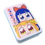 お菓子 ポプテピピック 缶入り キャンディ フェイス いちごミルク味 サカモト サクマ製菓 プチギフト キャラクター