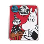 ムーミン グッズ 刺繍 アイロンパッチ 北欧 キャラクター ワッペン リトルミイ 橋の上 スモールプラネット 手芸用品