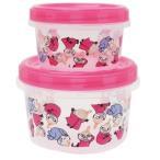 ムーミン 北欧 グッズ 食品保存容器 ラウンド コンテナ 大 小 2個セット ピンク スモールプラネット