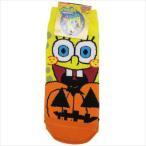 スポンジボブ レディースソックス ハロウィン かぼちゃ 女性用靴下 キャラクター グッズ スモールプラネット HALLOWEEN