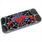 ブラック スパイダーマン マーベル 筆箱 缶ペンケース キャラクター グッズ スモールプラネット 新学期準備雑貨 キャラカンペン