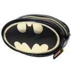 コスメポーチ バットマン ラウンド ポーチ DCコミック バットマンロゴ 小物入れ ギフト雑貨