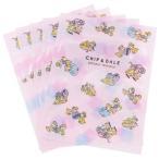 チップ&デール ディズニー グッズ ジップバック エンベロープ 5枚セット ハニー&ナッツ ピンク サンスター文具 13×17cm