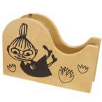 ムーミン 北欧 キャラクター 木製 テープカッター セロハンテープ リトルミイ サンスター文具